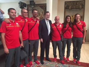 Remeros con Rajoy