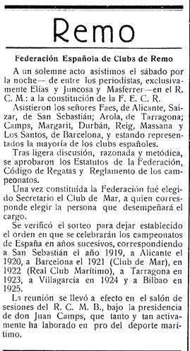 centenario federacion de remo